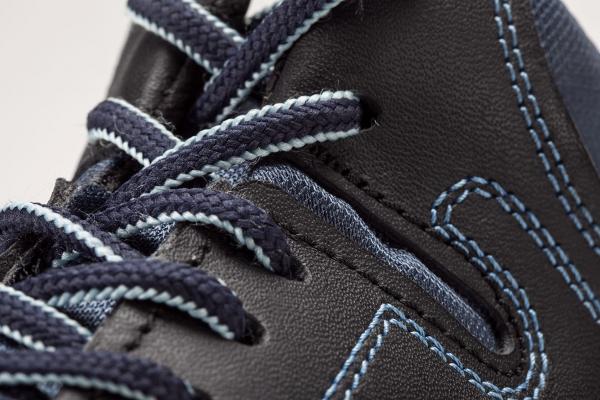 closeup imagen del borcegui blu azul